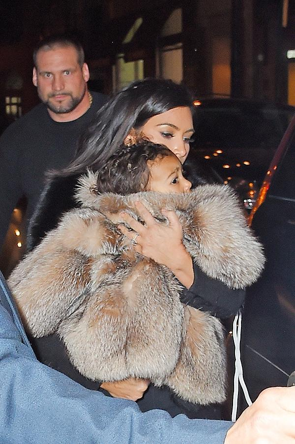 Kim and Kanye's daughter North West has an enviable fur wardrobe and she is barely even 2 years old