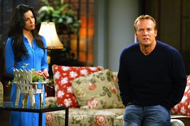 Eva Longoria and Doug Davidson The Young and The Restless Set