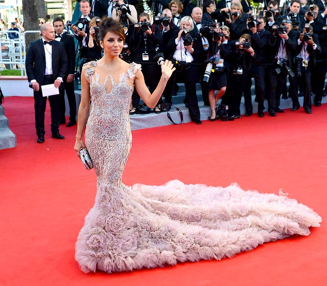 Eva Longoria in Marchesa at Opening Ceremony of 2012 Cannes Film Festival