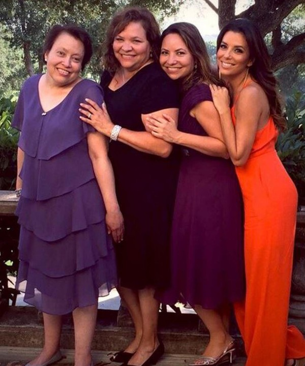 Eva Longoria and her sisters have a very close bond. Eva is pictured her with her sisters: Esmeralda Josephina Longoria, Elizabeth Judina Longoria and Emily Jeannette Longoria