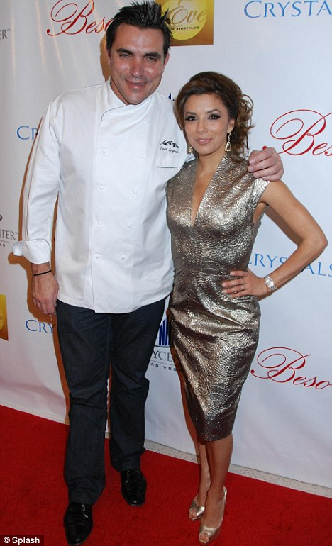 Eva, along with celebrity chef Todd English, celebrated the opening of their new restaurant Beso in Hollywood CA in