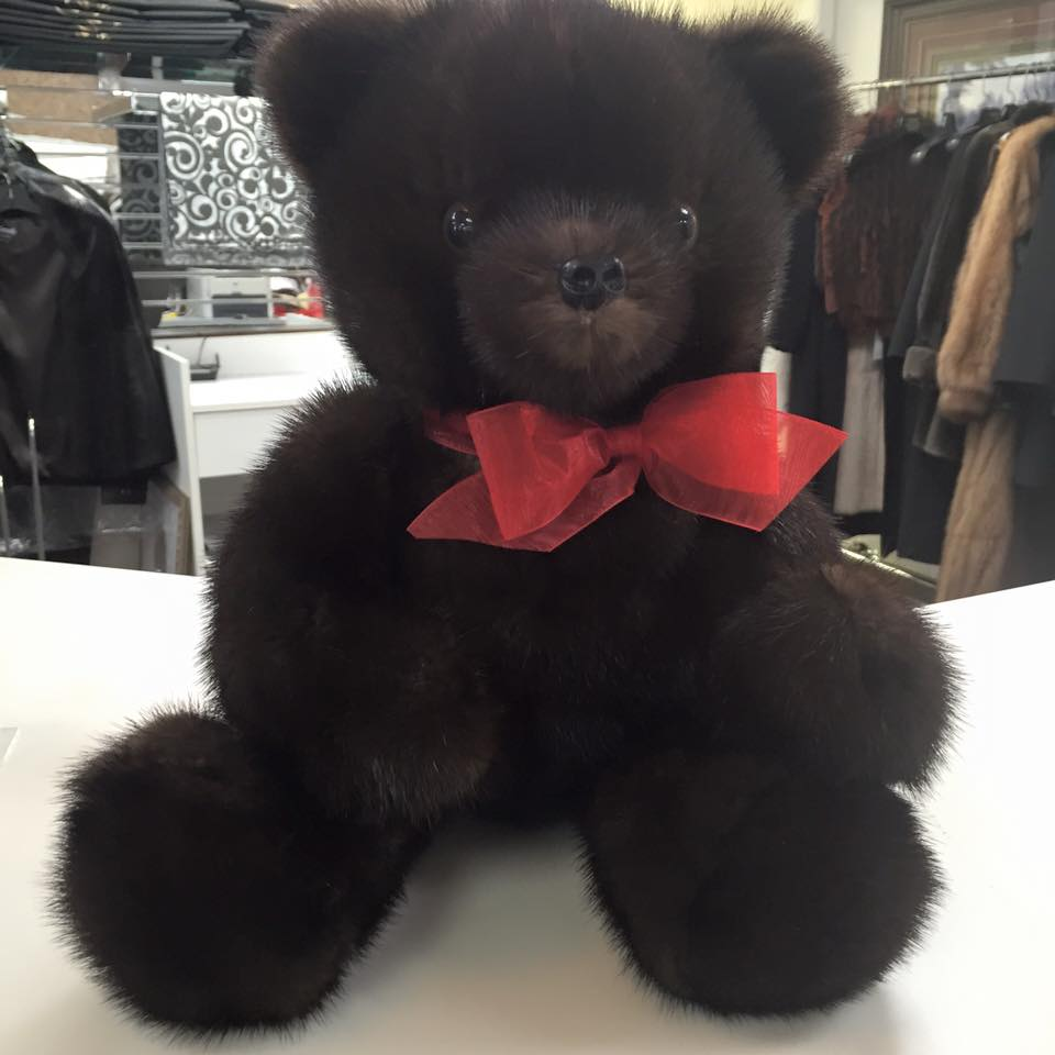 Why not snuggle up to this mink teddy bear from Marcella Furs and Leather
