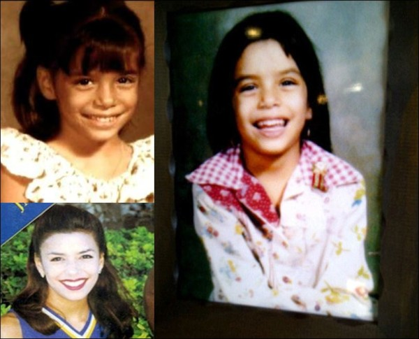 "A look back at Eva Longoria in her formative years in which she has stated she was viewed as an ""ugly duckling"" ."
