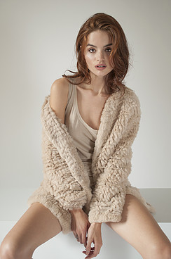 knitted rabbit cardigan by Adrienne landau