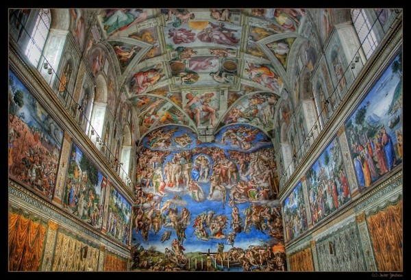 The famous Sistine Chapel in Rome, Italy