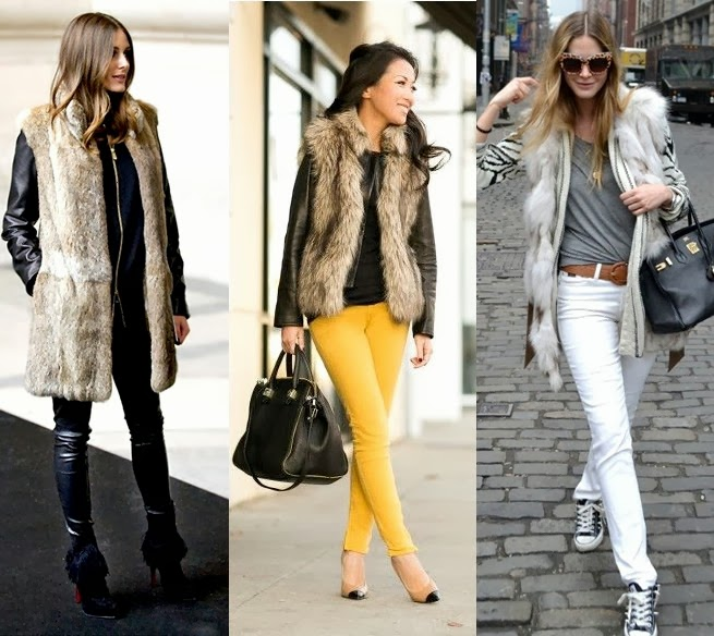 Fashionistsa and style bloggers love fur vests as a versatile style option