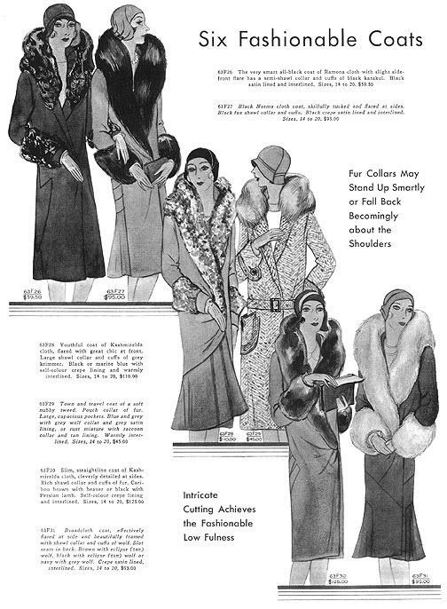 1929 B. Altman Coats Advertisement