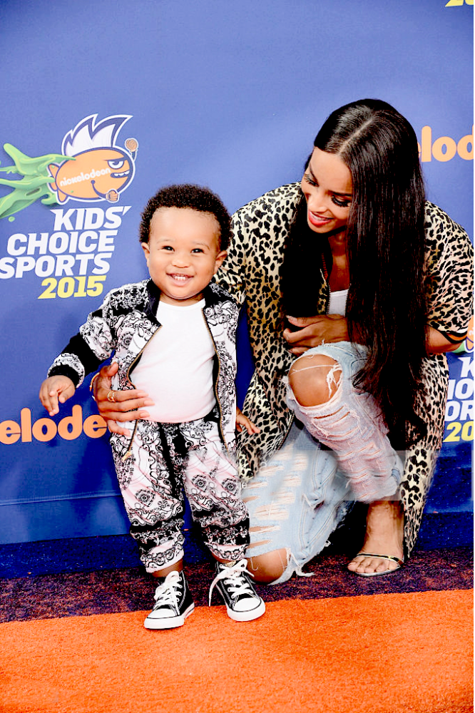 Singer Ciara, and rapper Future's son née Future Zahir Wilburn, on the red carpet