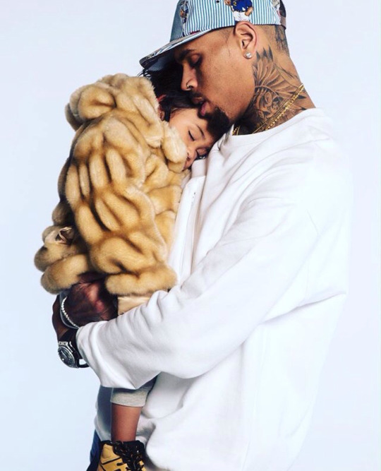 Singer Chris Brown and his daughter Royalty from earlier this year