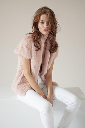 Adrienne Landau cap ssleeve vest