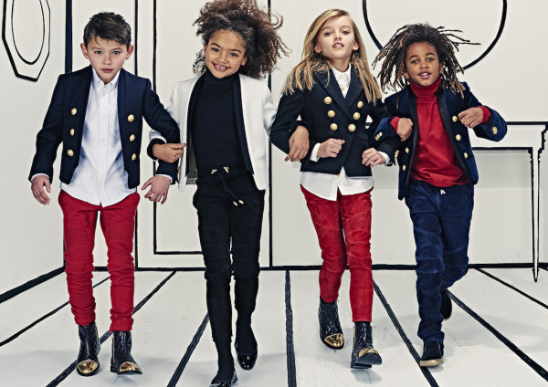 Denim take on a whole other twist in the new Balmain Kids line