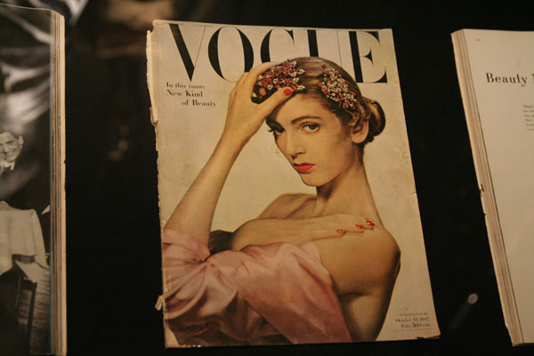 Carmen Dell'Orefice first magazine cover at the age 16