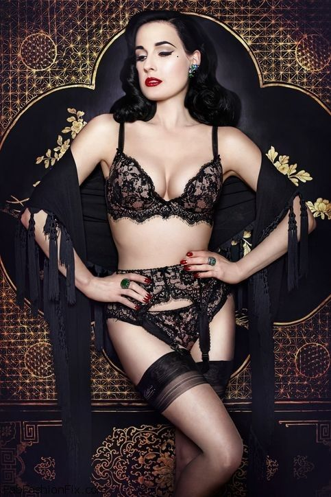 "Dita partnered with retailer Bloomingdale to create a new ""Madame X"" line of lingerie"