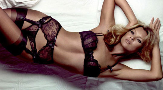 Kate Moss had modeld in the past for Agent Provocateur lingerie
