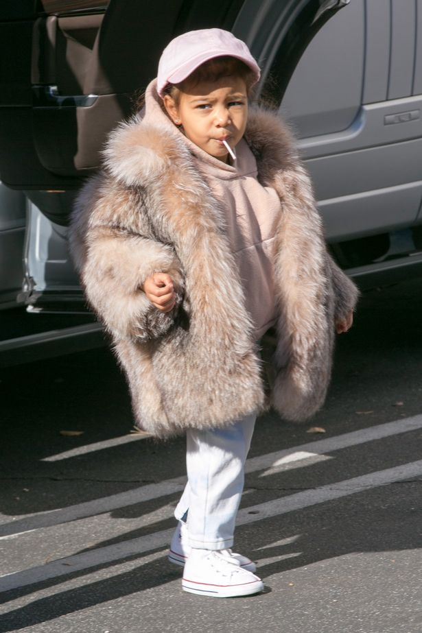We have serious coat envy over North West's coat closet