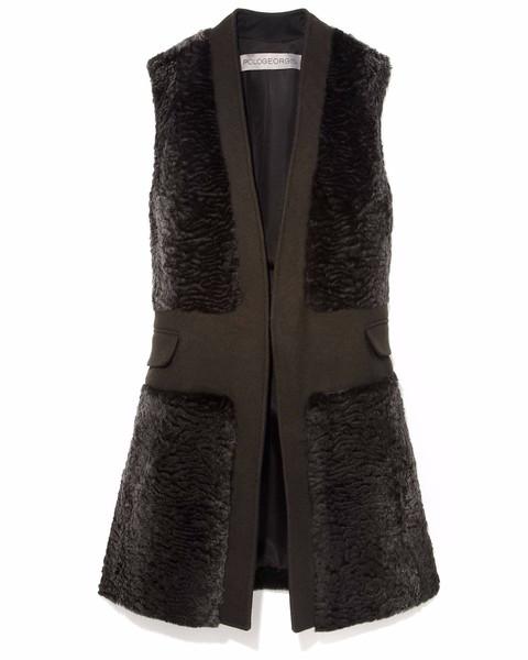 Pologeorgis sheared rabbit vest
