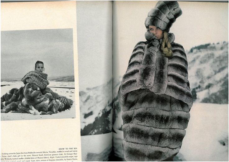 The Great Fur Caravan', the spread was shot on location in the Japanese Alps by Richard Avedon and stars Veruschka. Classic, in every sense.2
