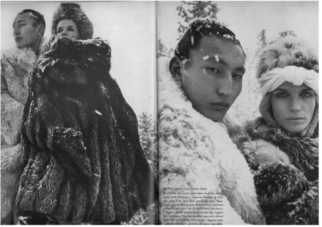 The Great Fur Caravan', the spread was shot on location in the Japanese Alps by Richard Avedon and stars Veruschka. Classic, in every sense.5