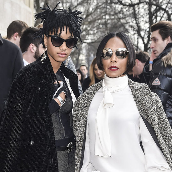 Willow Smith and her mother Jada Pinkett Smith at Paris Fashion Week March 2016