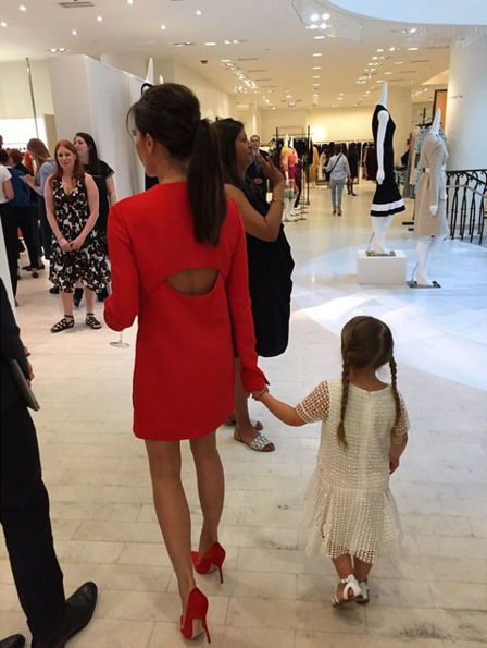 Victoria Beckham and her daughter Harper