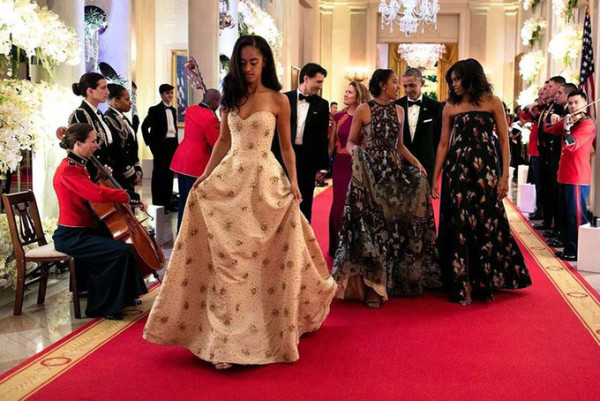 Technically they are not kid size, but Sasha and Malia Obama looked just as ravishing in their Naeem Khan dresses at the 2016 State Dinner as did their mother First Lady Michelle Obama.