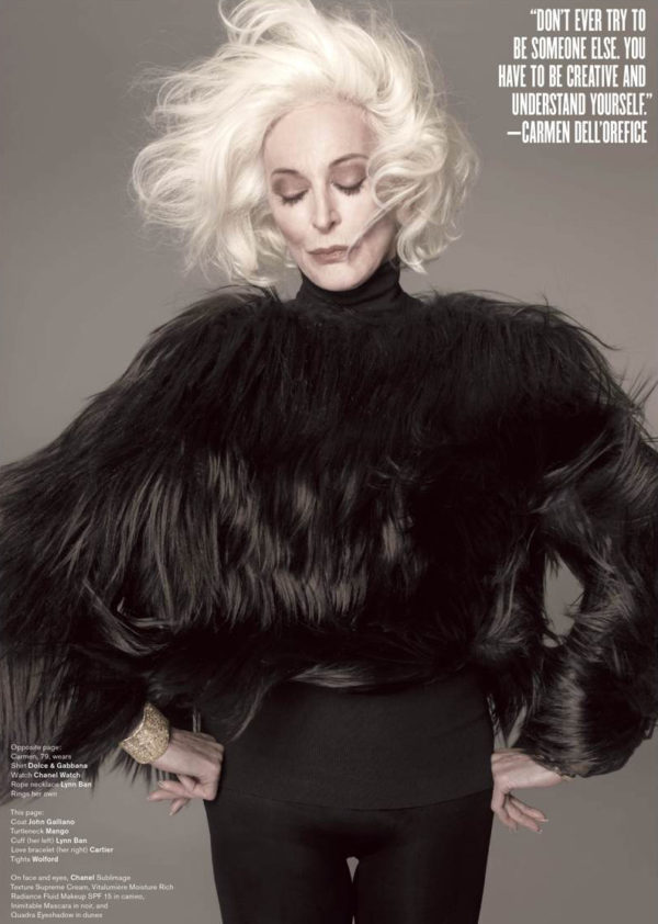 Longevity doesn't even begin to describe the lengthy and heralded career that Carmen dell'Orefice has enjoyed