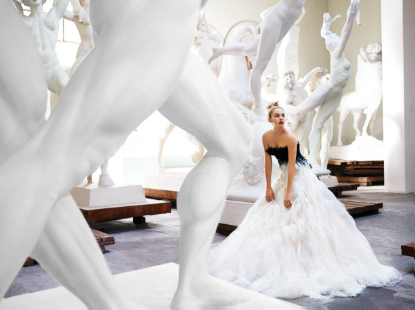 A snapshot of Sienna Miller, Rome, American Vogue, 2007 which is featured in the exhibit