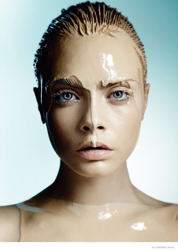 A stunning visual of Cara Delevingne by Mario for Allure's Best of Beauty Issue