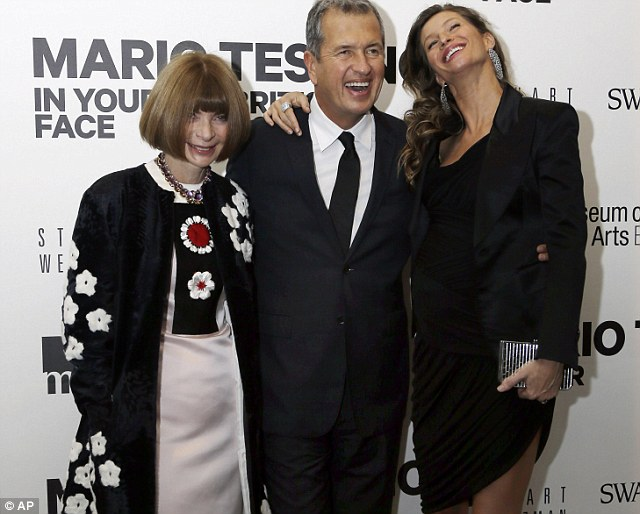 Anna Wintour, Mario Testino and Gisele Bundchen