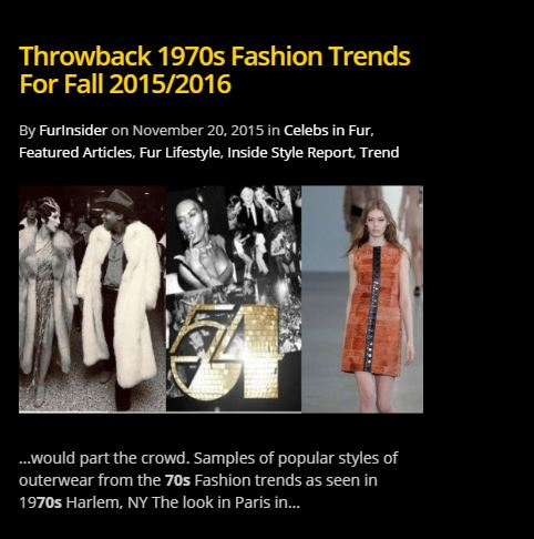 An example of previoues 1970s fashion coverage from the FurInsider