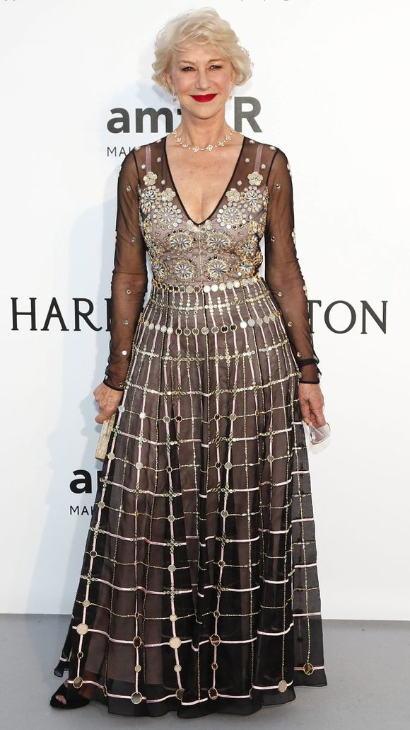 Golden goddess Helen Mirren wearing Temperley London