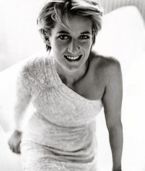 His famous Vanity Fair portrait of Princess Diana