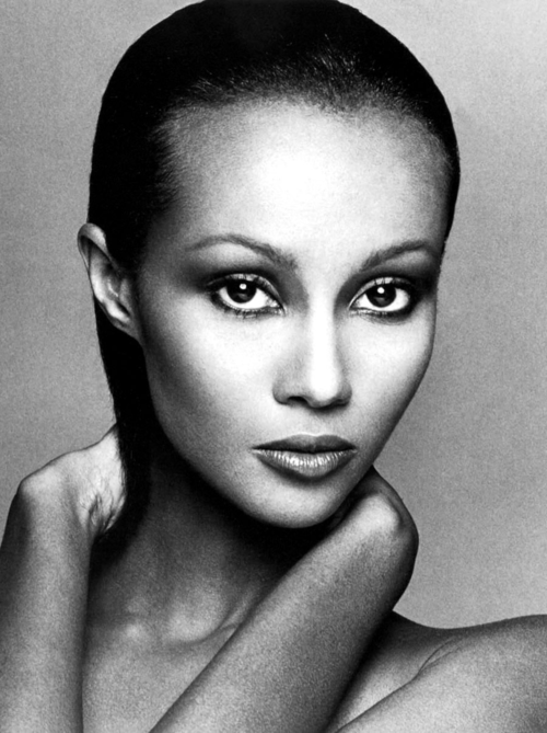 Iman was discovered because of her striking natural beauty