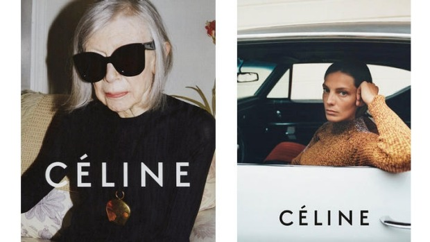 Joan Didion in Celine's Spring 2015 campaign