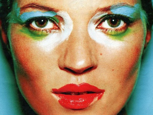 Kate Moss shot by Mario Testino - one of the images on display in the exhibit