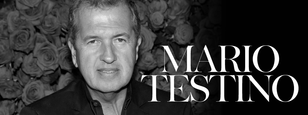 Mario Testino is a giant withing the fashion industry