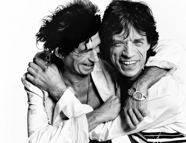 Musicians- Keith Richards and Mick Jagger of the Rolling Stones