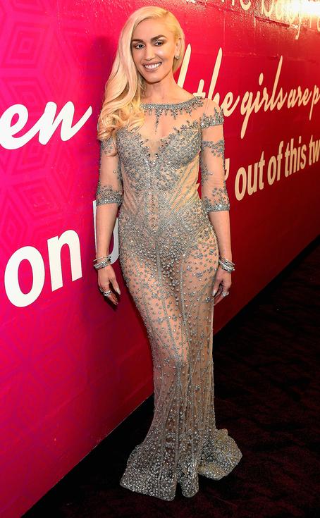 Gwen Stefani in a Falguni Shane illusionist gown