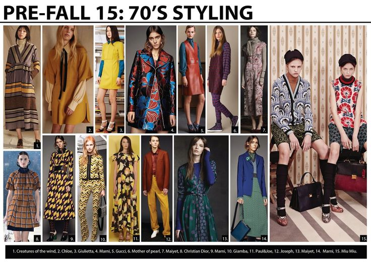 Pre-fall 2015 Print trends, 70's fashion trend, biba 70's