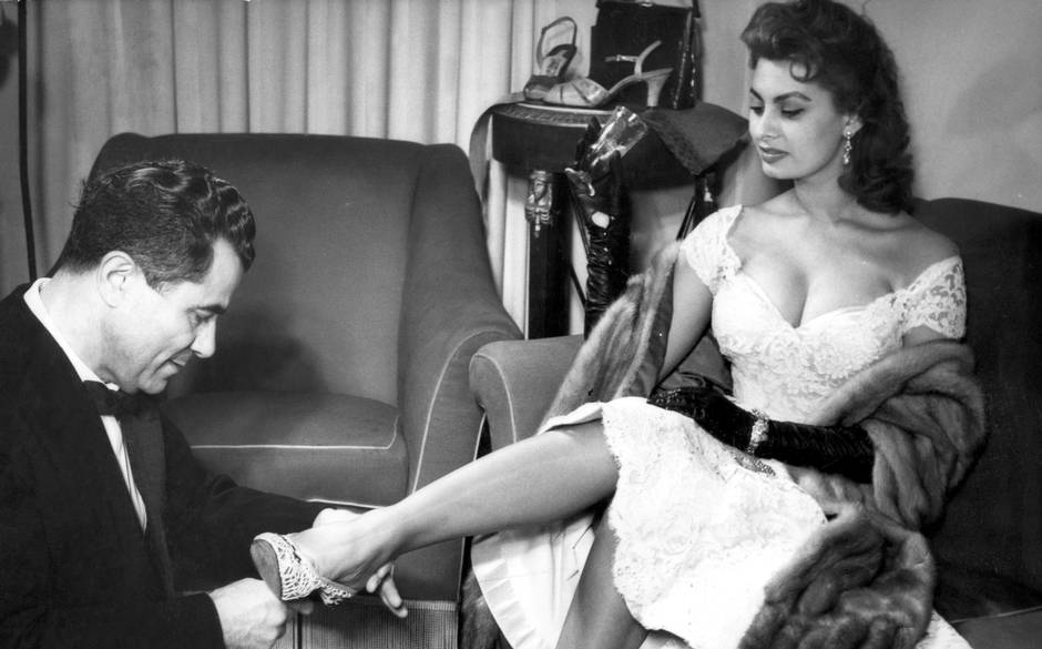 Salvatore Ferragamo with Sophia Loren