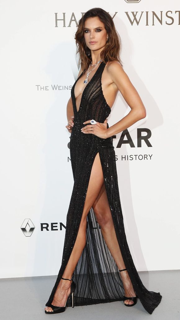 Sexy and Slinky - Alessandra Ambrosio- Redemption dress
