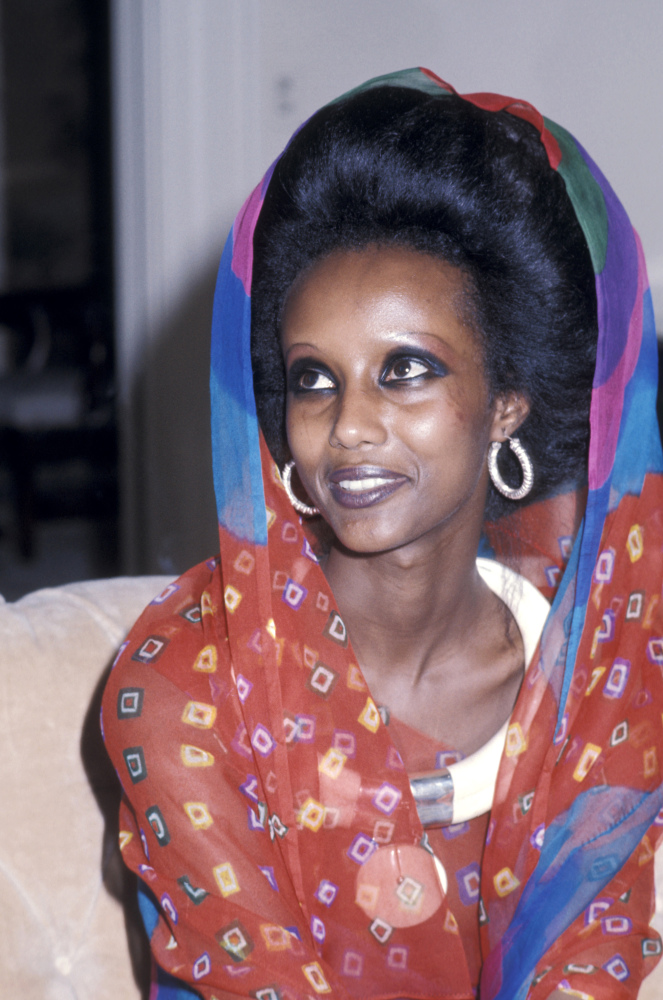 Somali model Iman in 1975 at the age of 19