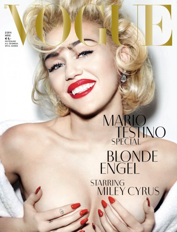 Do a double take..... it's not Marilyn Monroe, or Madonna it's Miley Cyrus!