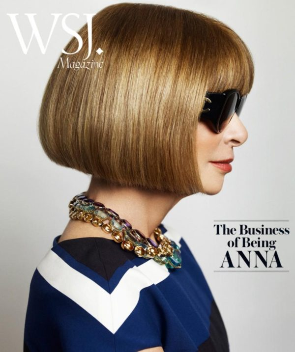 A 2015 WSJ feature on Anna Wintour photographed by Mario Testino