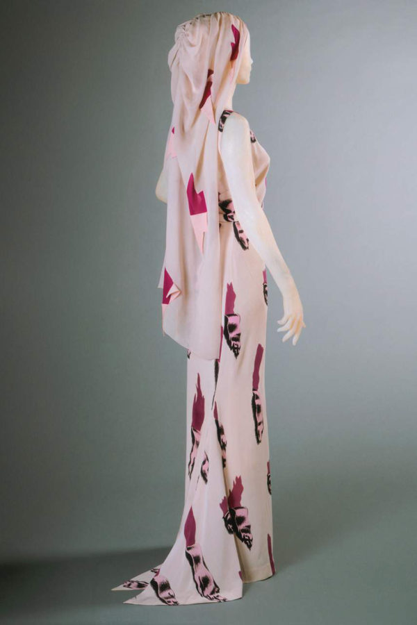 Elsa Schiaparelli dress designed in collaboration with Salvador Dalí in the 30's