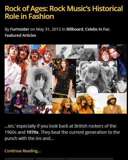 FurInsder has reviewed 1970s musical influence on fashion too.