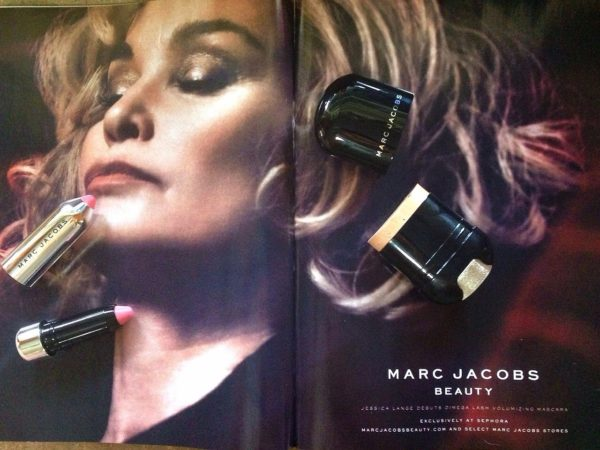 Jessica Lange featured in the Marc Jacobs Beauty Fall 2014 campaign