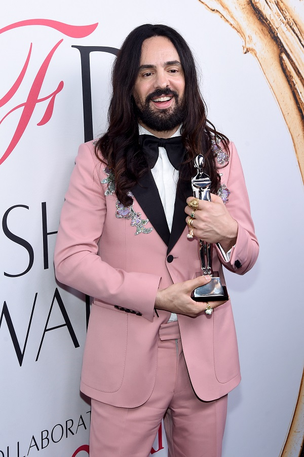 Alessandro Michele at the 2016 CFDA Awards where he was presented with the prestigious International award