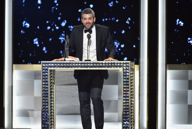 Brandon Maxwell accepts the Swarovski Womenswear award onstage at the 2016 CFDA Fashion Awards