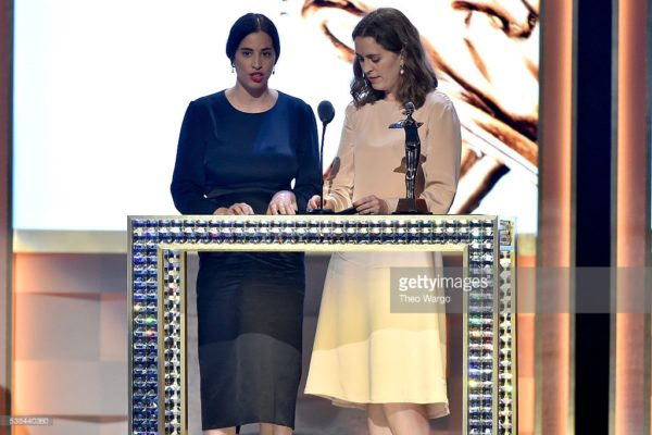Designers Floriana Gavriel and Rachel Mansur awarded Accessories Designer of the year speak onstage at the 2016 CFDA Awards